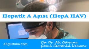 Aşı: Hepatit A Aşısı (HepA - HAV)