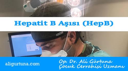 Aşılar: Hepatit B Aşısı (HepB)