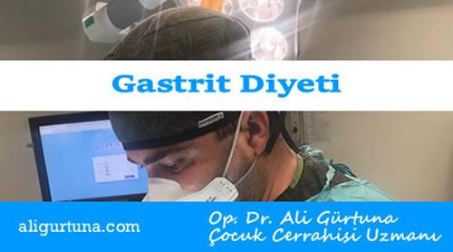Gastrit Diyeti, Gastrit Beslenme Tedavisi