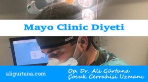 Mayo Clinic diyeti ile evde hızlı kilo verme