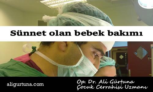Sünnet olan bebek bakımı