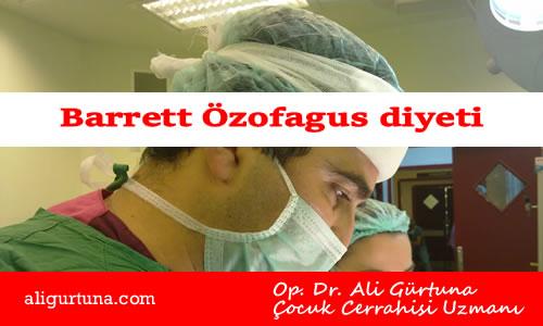 Barrett Özofagus diyeti tedavisi
